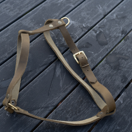 Leather dog harness,simple soft leather harness